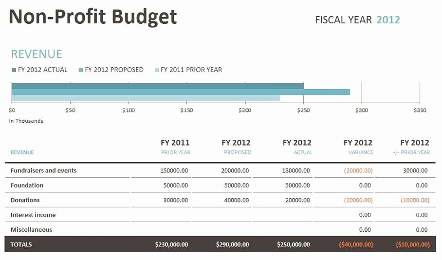 Non Profit Budget Template Lovely Non Profit Bud Template Excel Templates