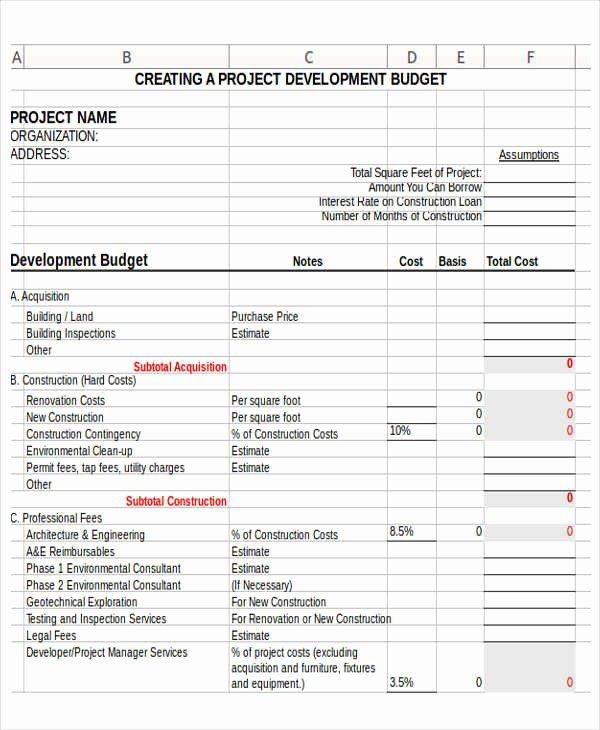 Non Profit Budget Template Luxury 12 Non Profit Bud Templates Word Pdf Excel