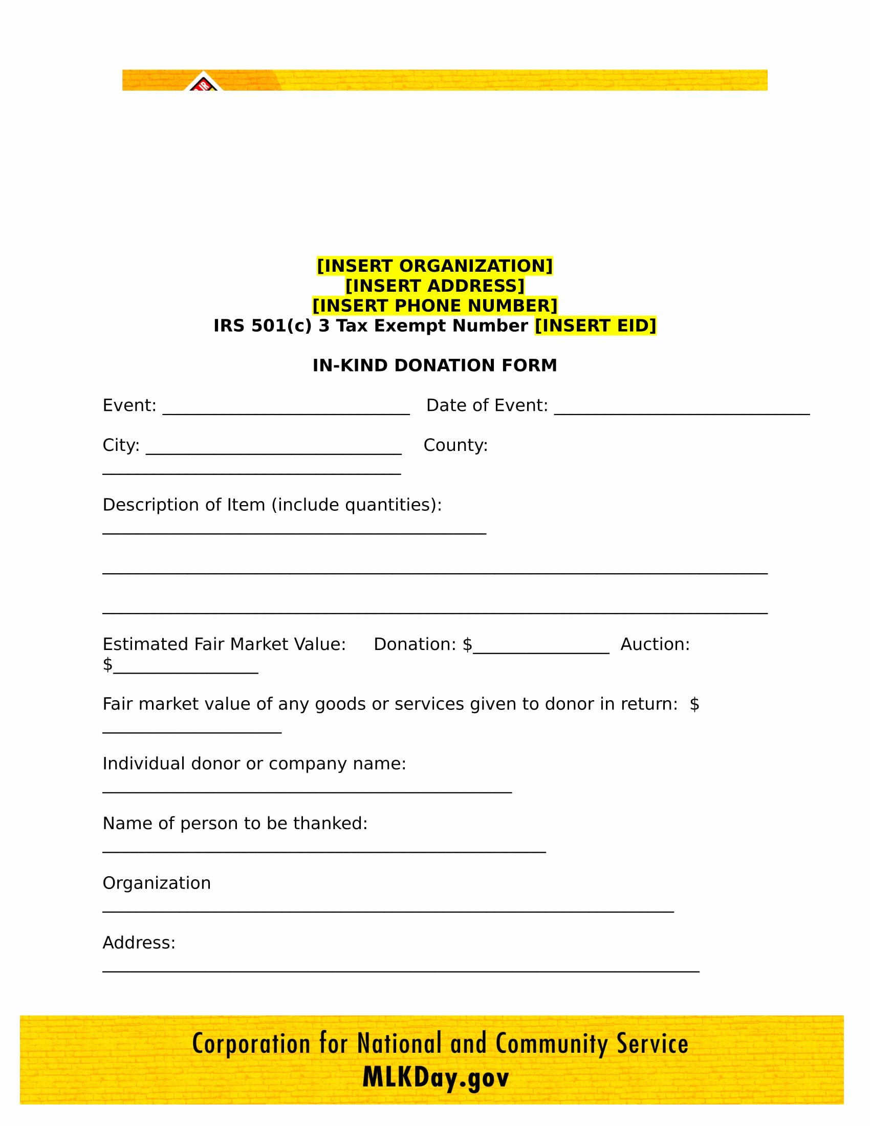 Non Profit Donation Card Template Awesome 4 Nonprofit Donation forms Pdf Doc