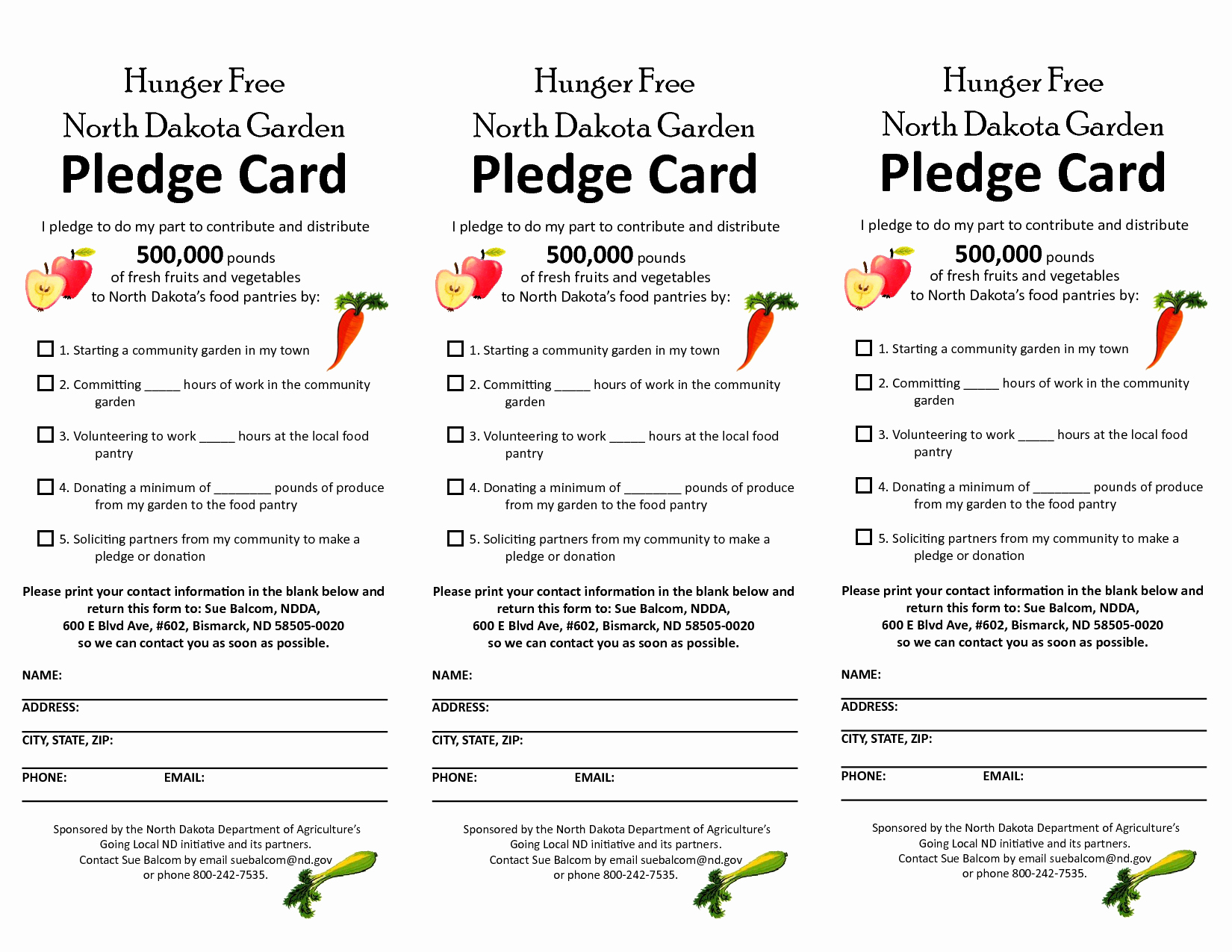 Non Profit Donation Card Template Best Of Free Pledge Card Template