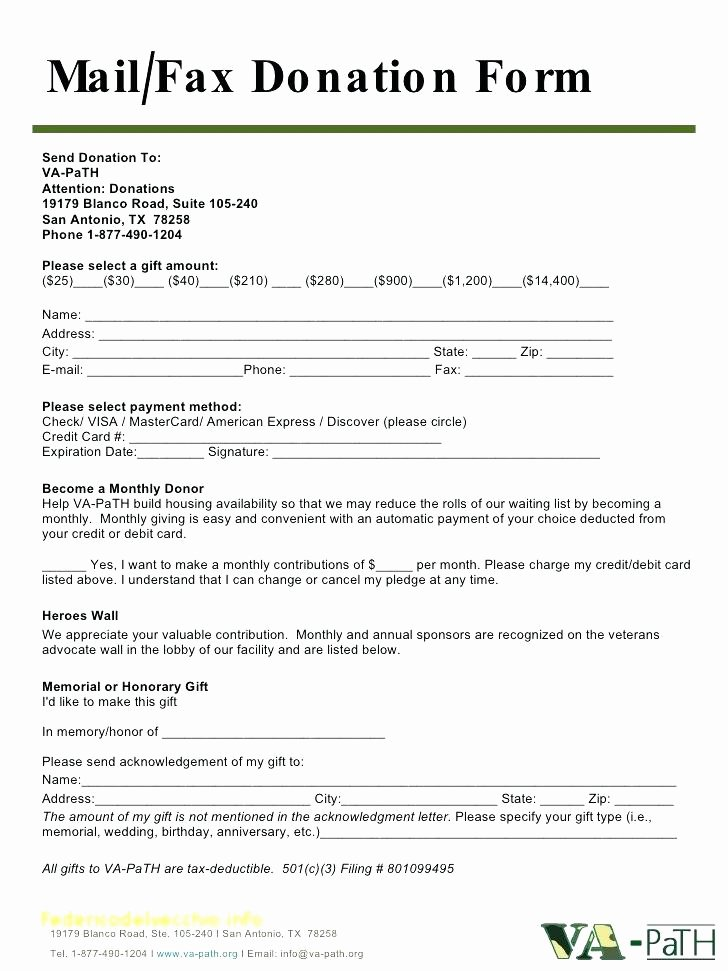 non profit donation request form template unique templates excel card