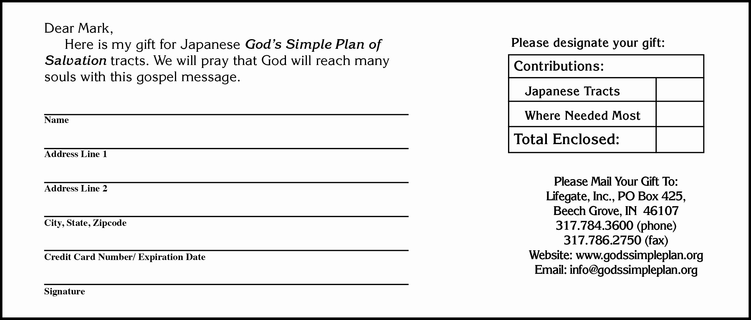 Non Profit Donation Card Template Fresh 6 Donation form Templates Excel Pdf formats