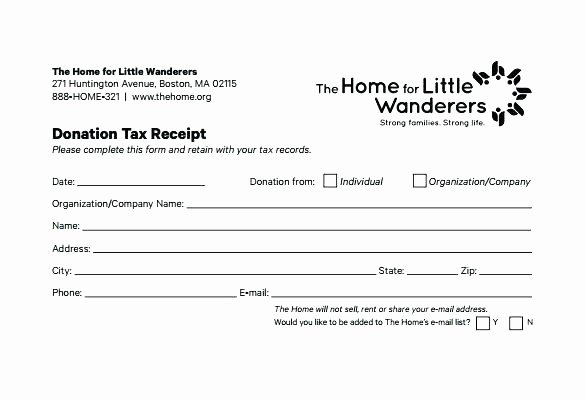 Non Profit Donation Card Template Fresh Donation Receipt Template Tax Sponsorship Non Cash Doc
