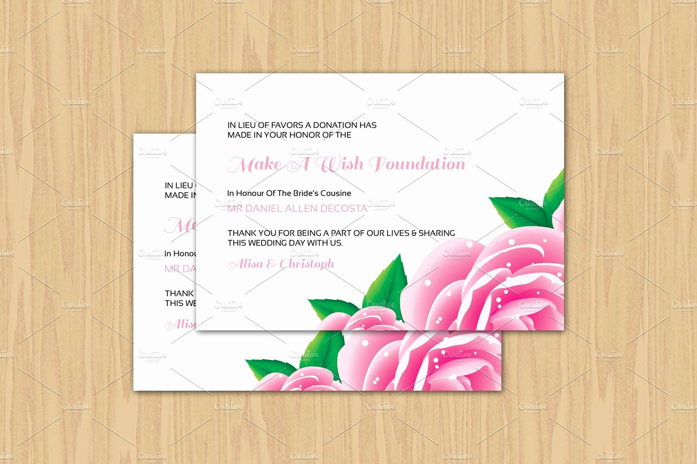 Non Profit Donation Card Template New Wedding Favor Donation Card Template Card Templates