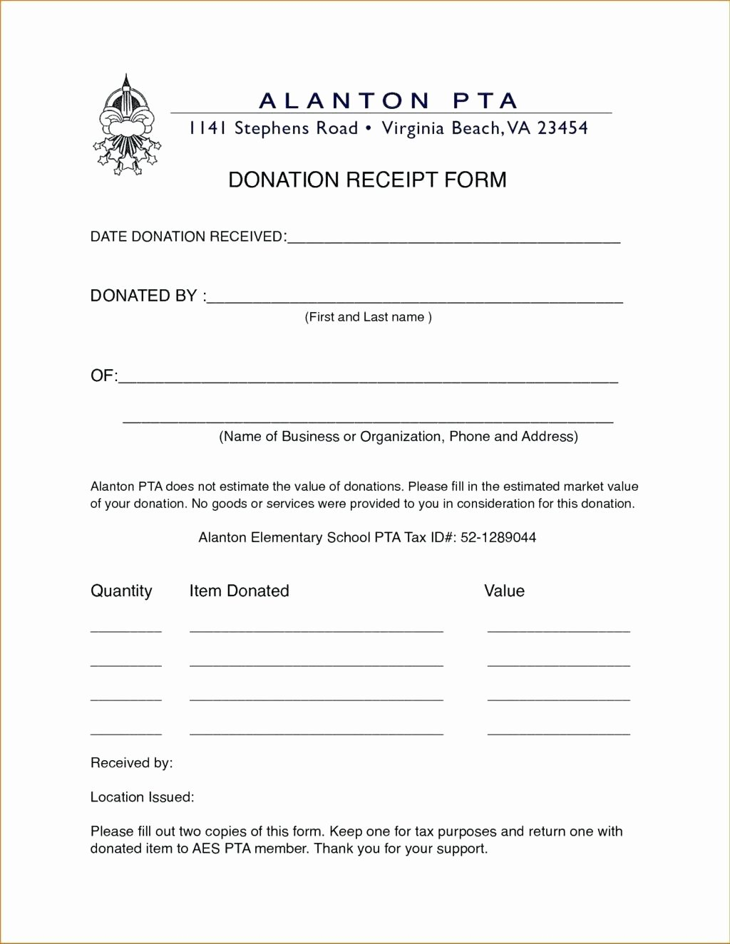 Non Profit Donation Letter Template Fresh Template Service Award Certificate Template