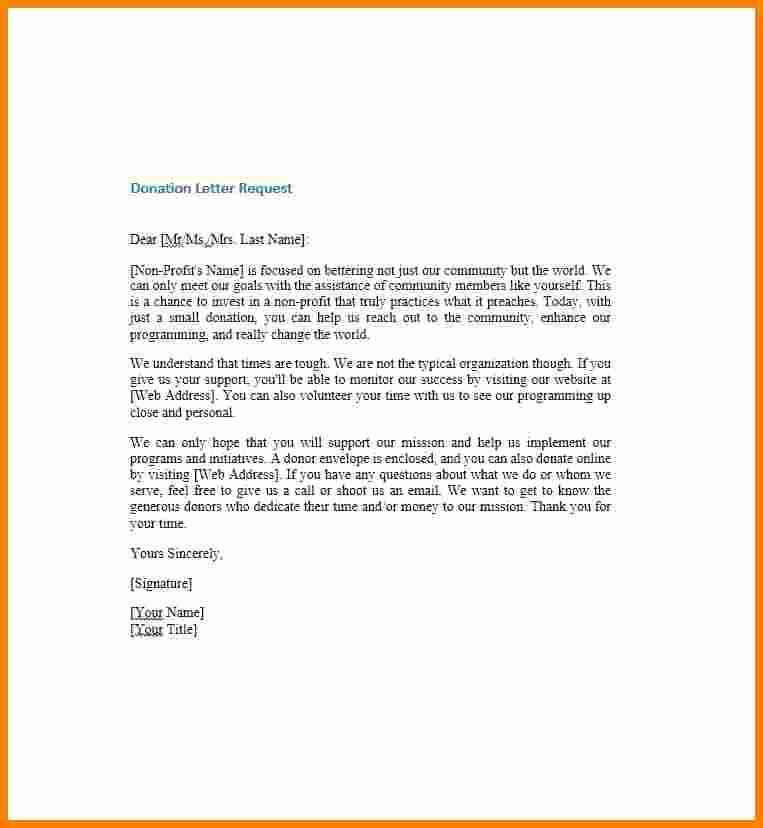 Non Profit Donation Letter Template Luxury 5 Donation Request Letter for Non Profit