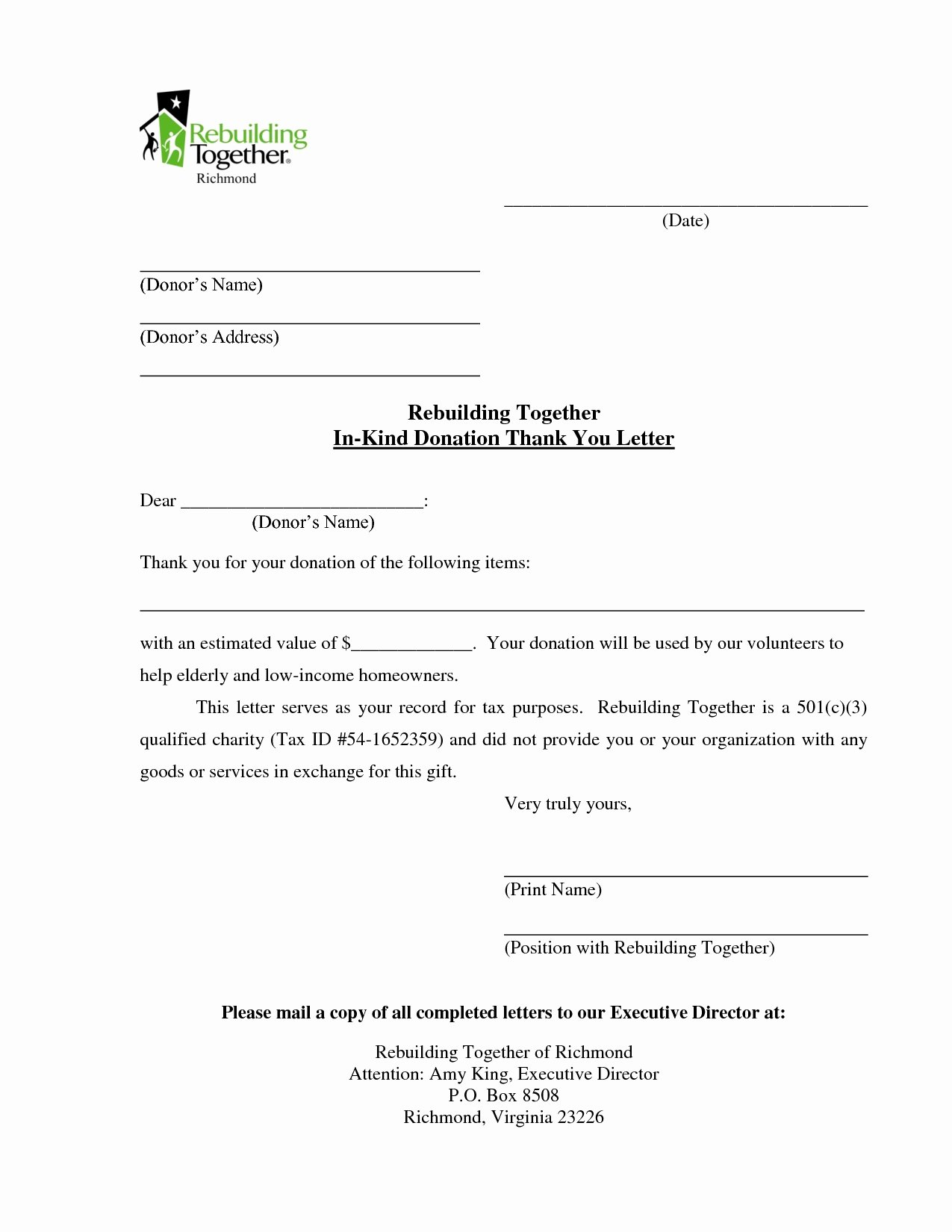 Non Profit Donation Letter Template New 25 Of Non Profit Donation Request Template