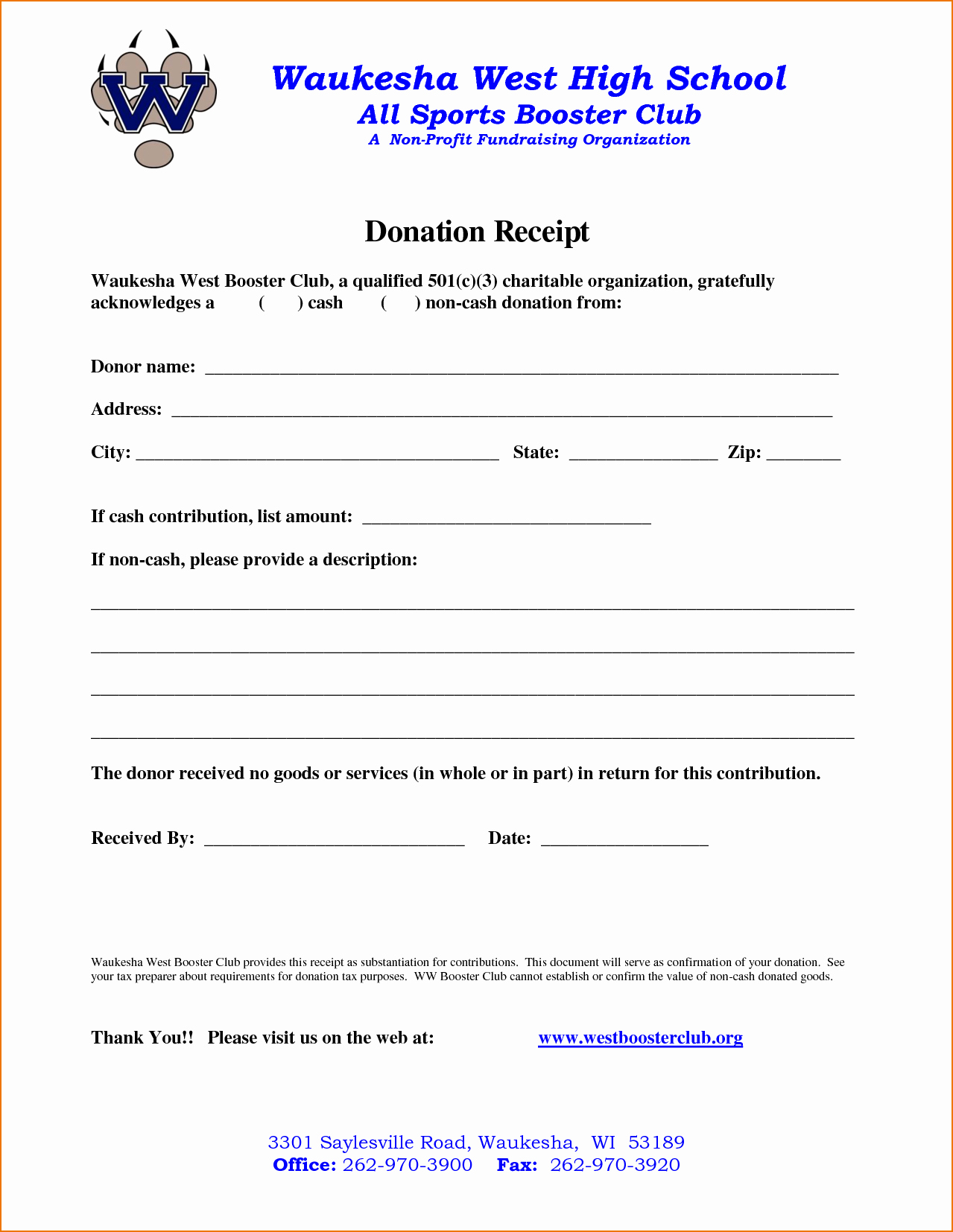 Non Profit Donation Letter Template New 4 Non Profit Donation Receipt Template