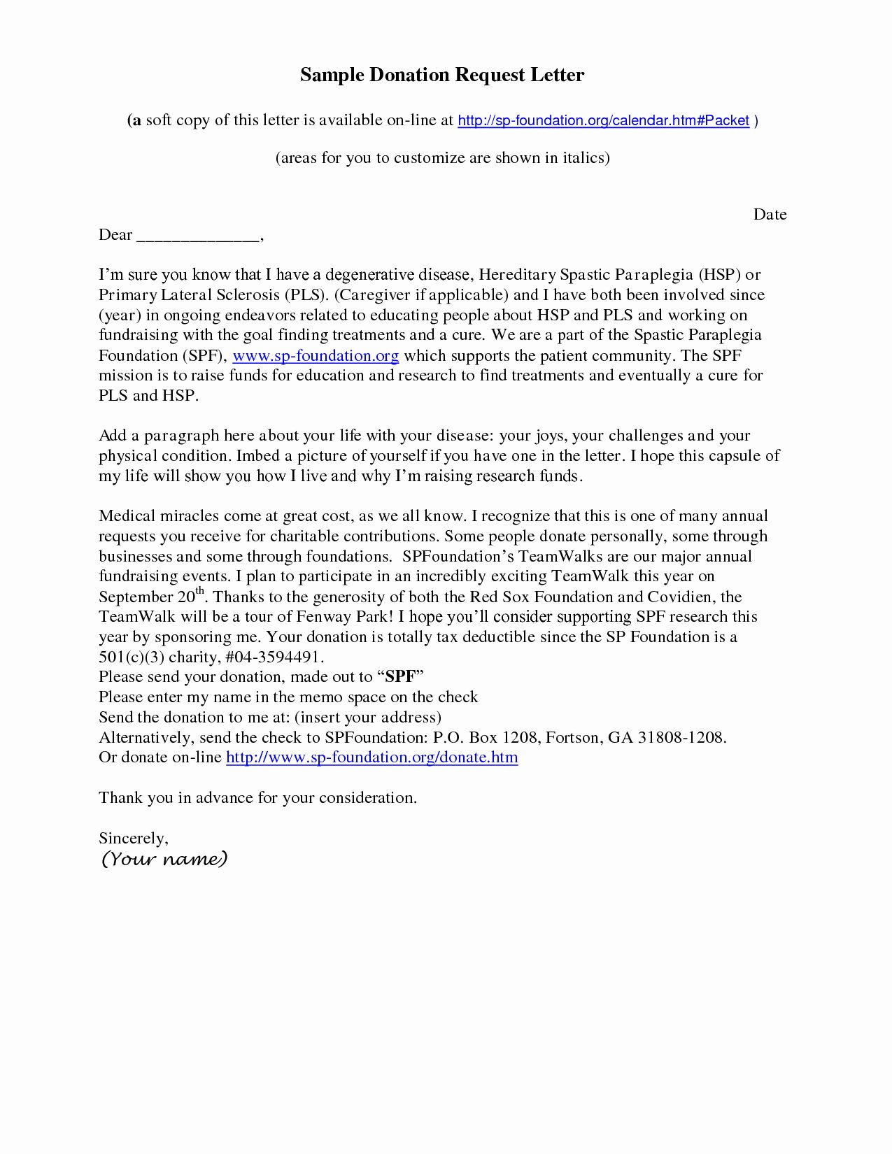 Non Profit Donation Letter Template Unique Donation Letter Template for Non Profit organization