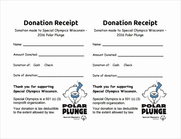 Non Profit Donation Receipt Template Awesome 10 Donation Receipt Templates – Free Samples Examples