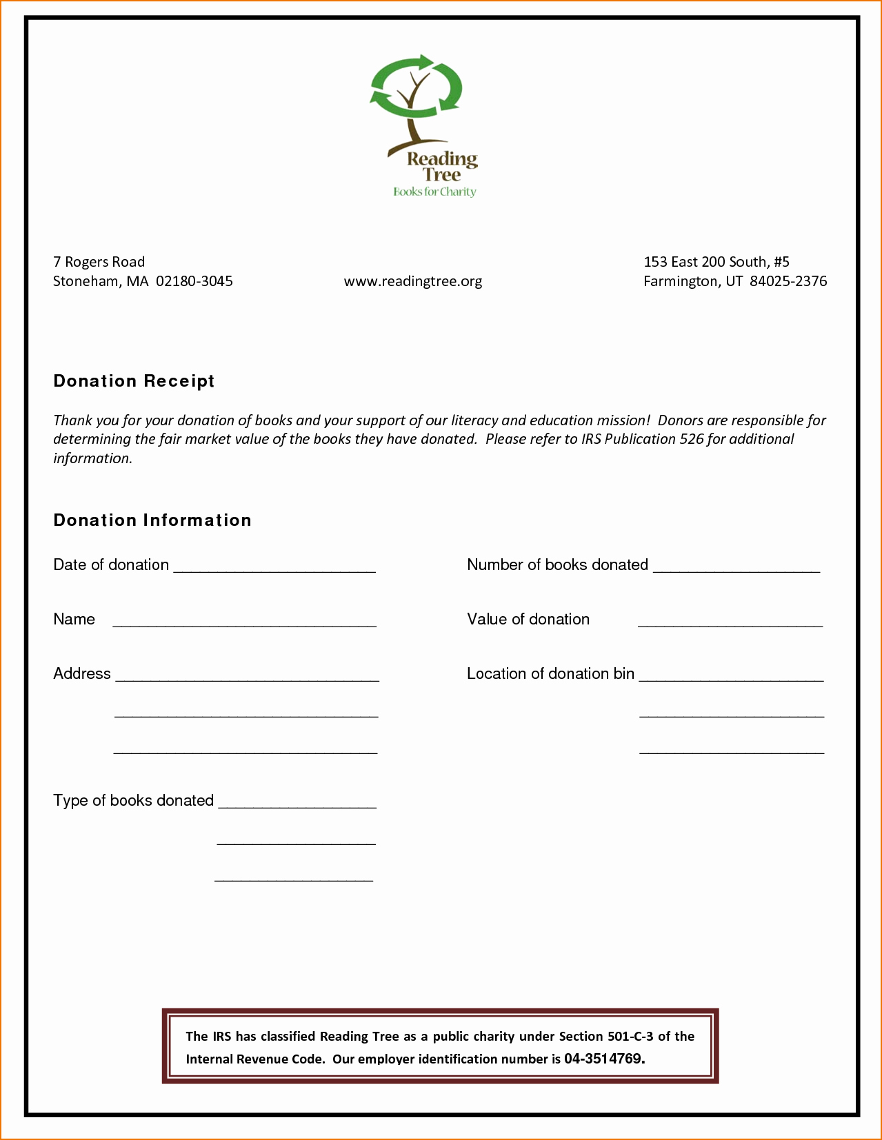 Non Profit Donation Receipt Template Awesome 4 Non Profit Donation Receipt Template