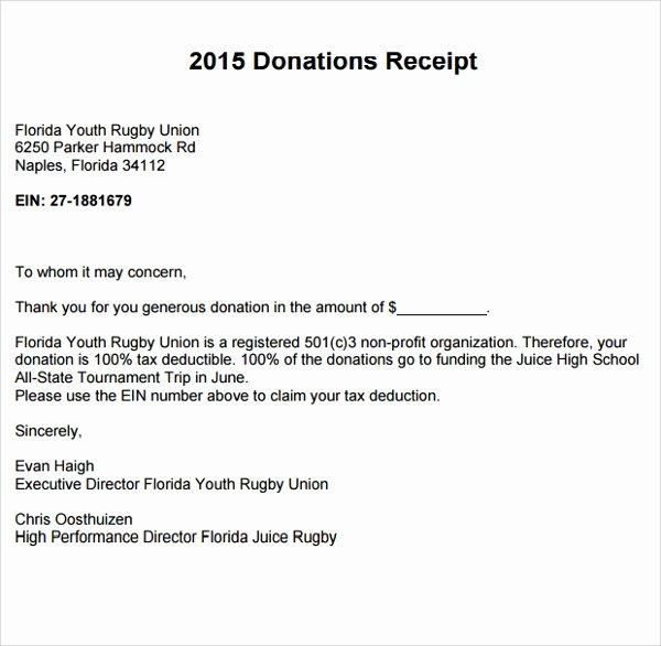 Non Profit Donation Receipt Template Beautiful 10 Fundraiser Receipt Templates