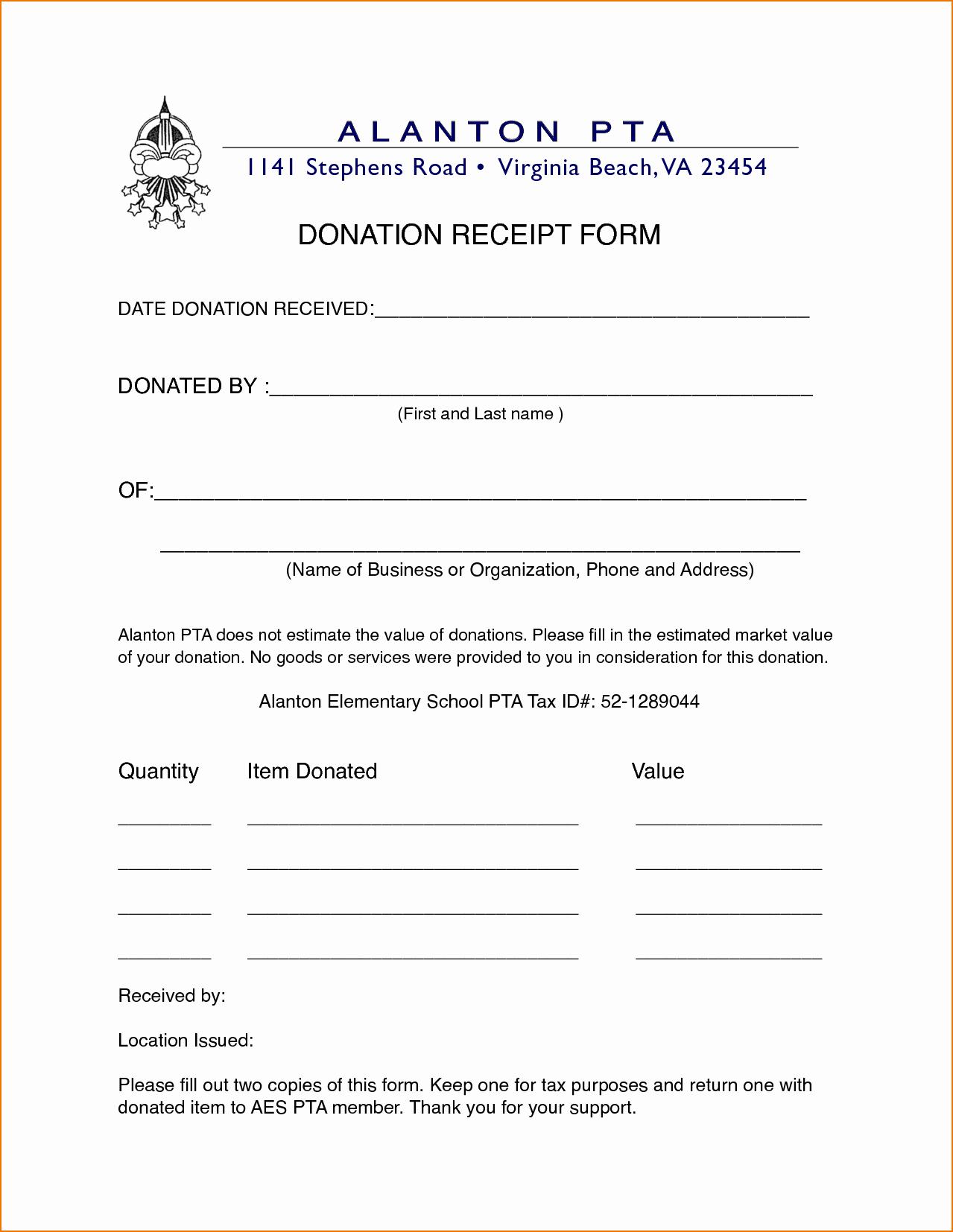 Non Profit Donation Receipt Template Beautiful 4 Non Profit Donation Receipt Template