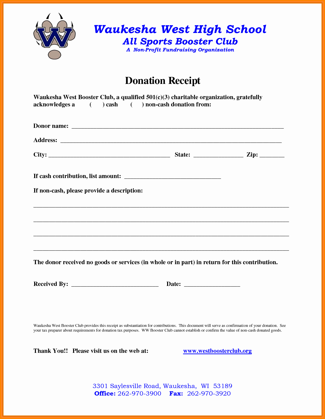 Non Profit Donation Receipt Template Beautiful 9 Non Profit Donation Receipt Template