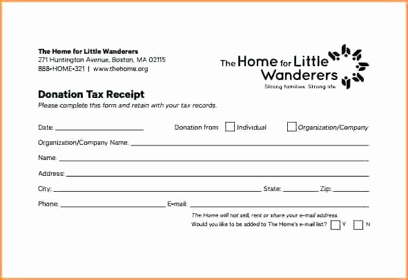 Non Profit Donation Receipt Template Best Of In Kind Donation Receipt form Template Church Word Free