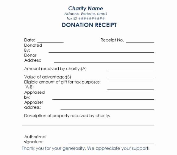 Non Profit Donation Receipt Template Elegant 16 Donation Receipt Template Samples