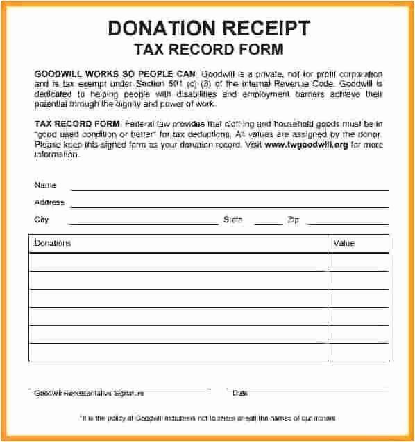 Non Profit Donation Receipt Template Fresh Donation Receipts Templates Professional Non Profit