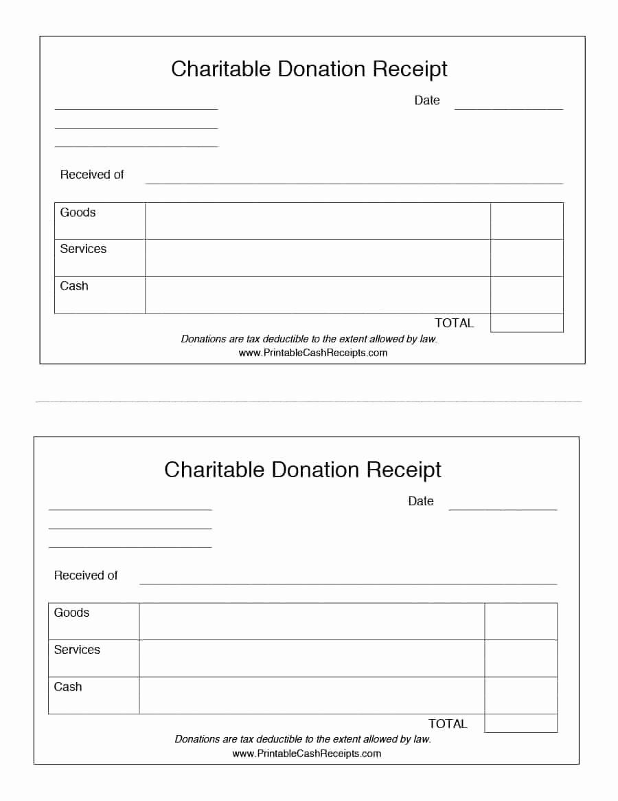 Non Profit Donation Receipt Template Lovely 40 Donation Receipt Templates & Letters [goodwill Non