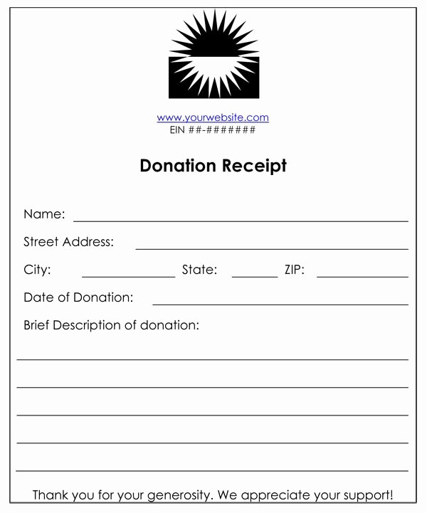 Non Profit Donation Receipt Template Luxury Non Profit Donation Receipt