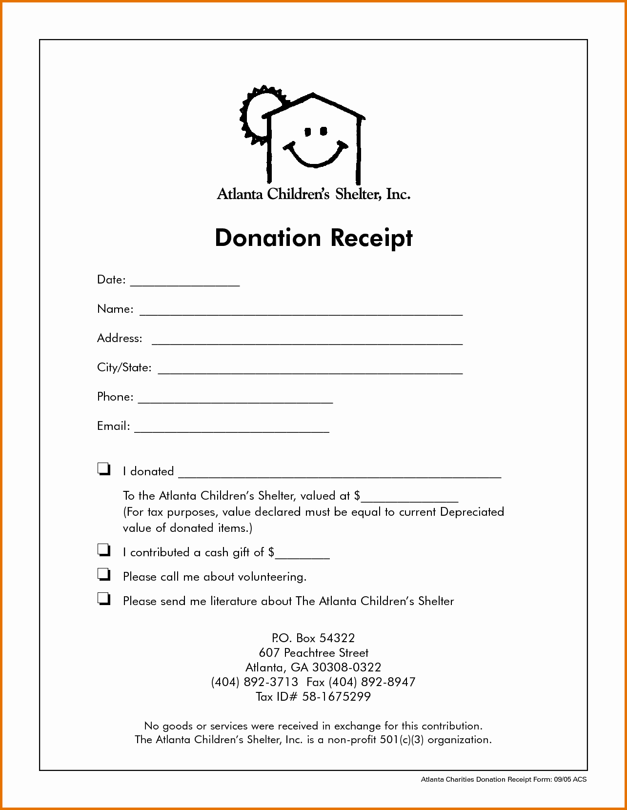 Non Profit Donation Receipt Template Luxury Non Profit Donation Receipt Templatereference Letters