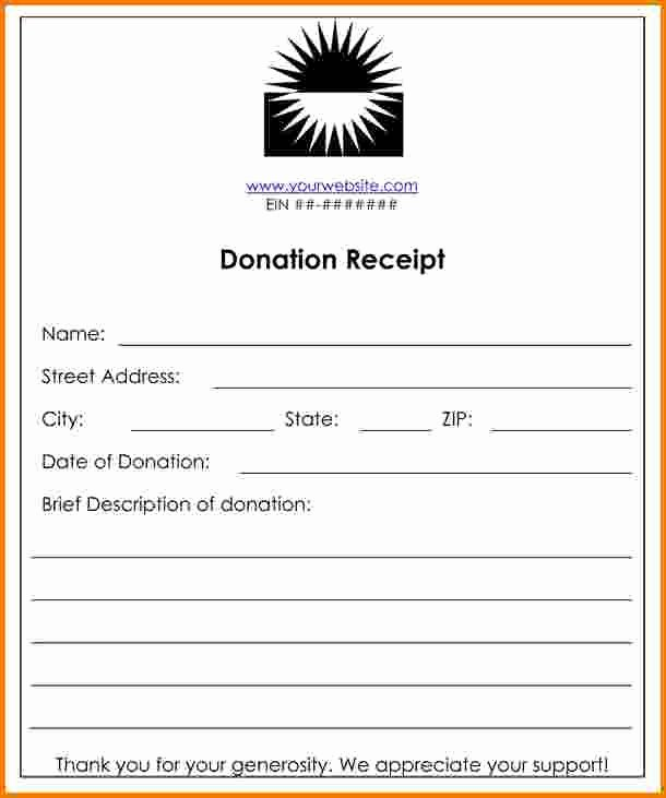 Non Profit Donation Receipt Template New 8 Donation Receipt Template