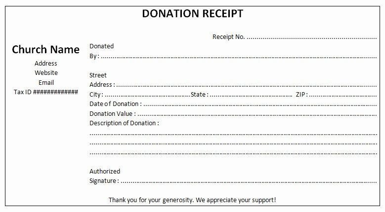 Non Profit Donation Receipt Template Unique Non Profit Donation Receipt Template Sample Free Word