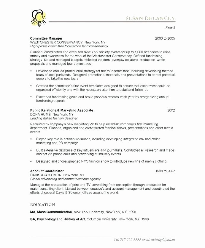 Non Profit event Planning Template Unique event Coordinator Resume Sample – Onwebo
