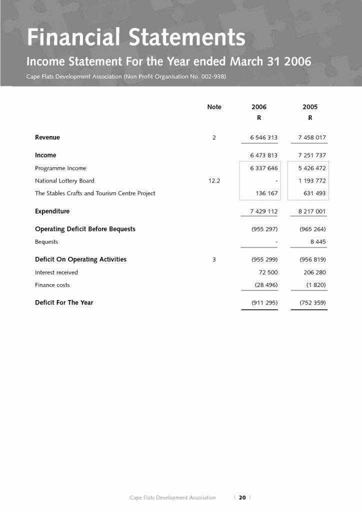Non Profit Financial Statement Template Elegant Non Profit Financial Statement Template Spreadsheet Excel