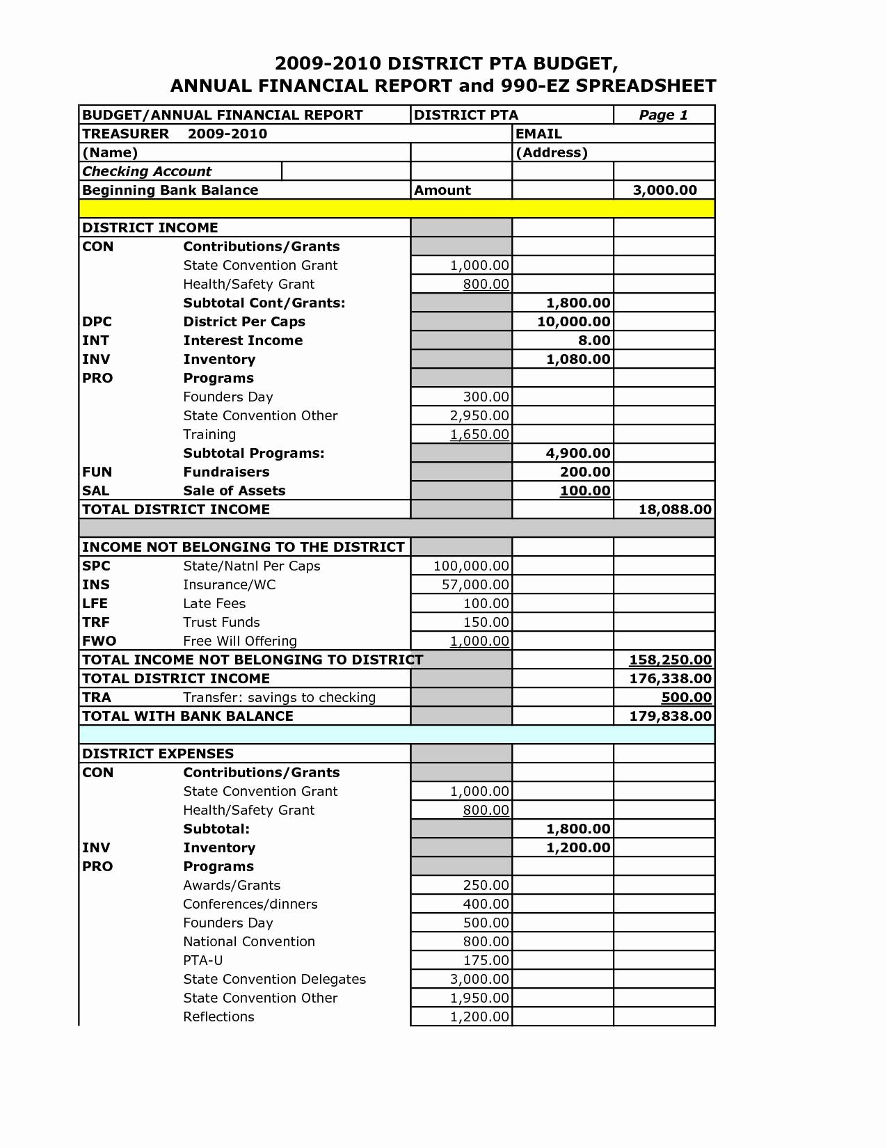 Non Profit Financial Statement Template Unique Non Profit Financial Statement Template Free Invoice