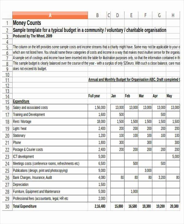 Non Profit organization Budget Template Fresh 12 Non Profit Bud Templates Word Pdf Excel