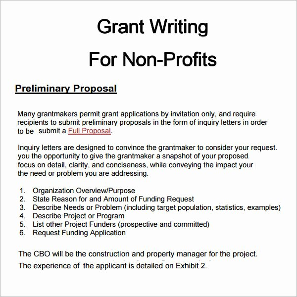 Non Profit Proposal Template Awesome 6 Grant Proposal Templates Pdf Doc Download