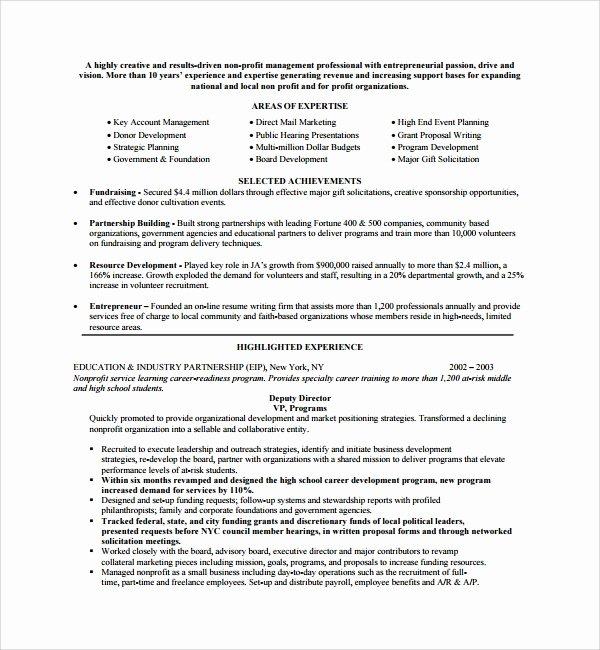 Non Profit Proposal Template Elegant Sample Non Profit Proposal Template 7 Free Documents In Pdf