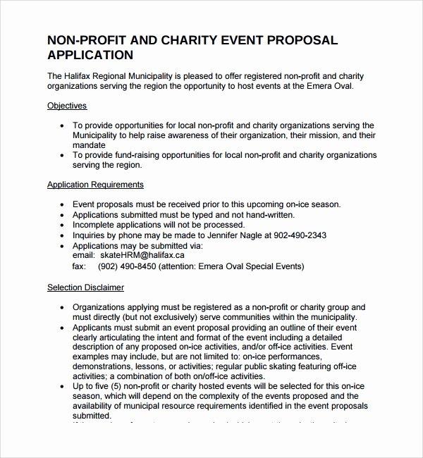 Non Profit Proposal Template Fresh 12 Non Profit Proposal Templates