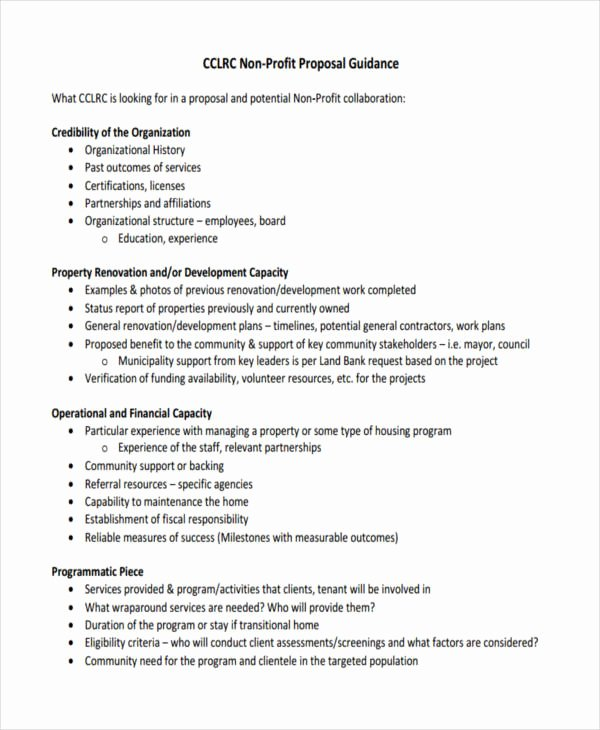 Non Profit Proposal Template Fresh 53 Proposal Templates and Examples Pdf Word Pages