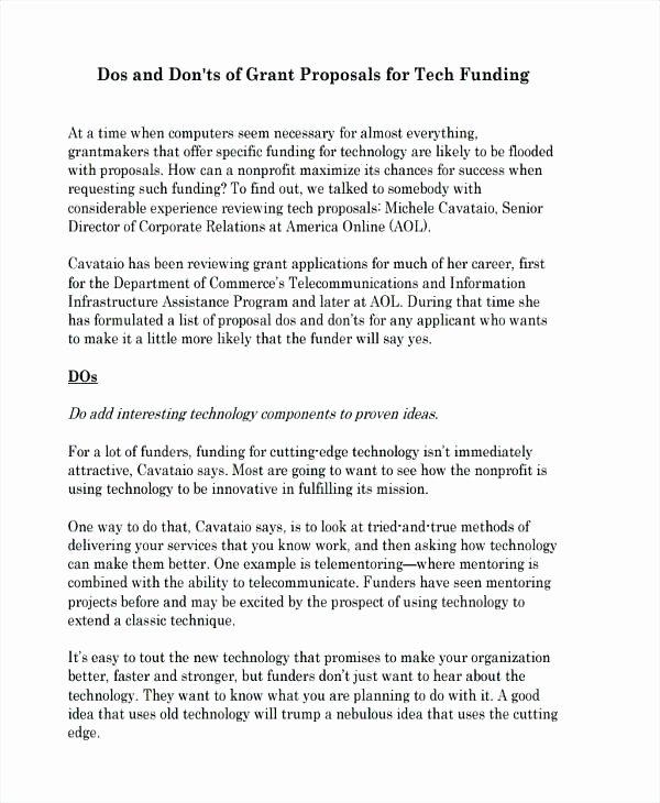 Non Profit Proposal Template Fresh Non Profit Proposal Template – Buildingcontractor
