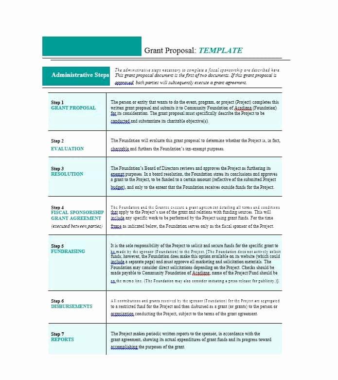 Non Profit Proposal Template Luxury Scholarship Proposal Template for 40 Grant Proposal