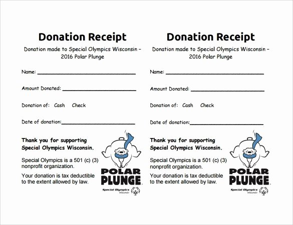 Non Profit Receipt Template Awesome Non Profit Donation Receipt Letter Template Free