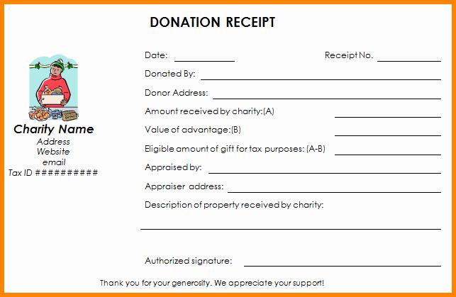 Non Profit Receipt Template Elegant 9 Non Profit Donation Receipt Template