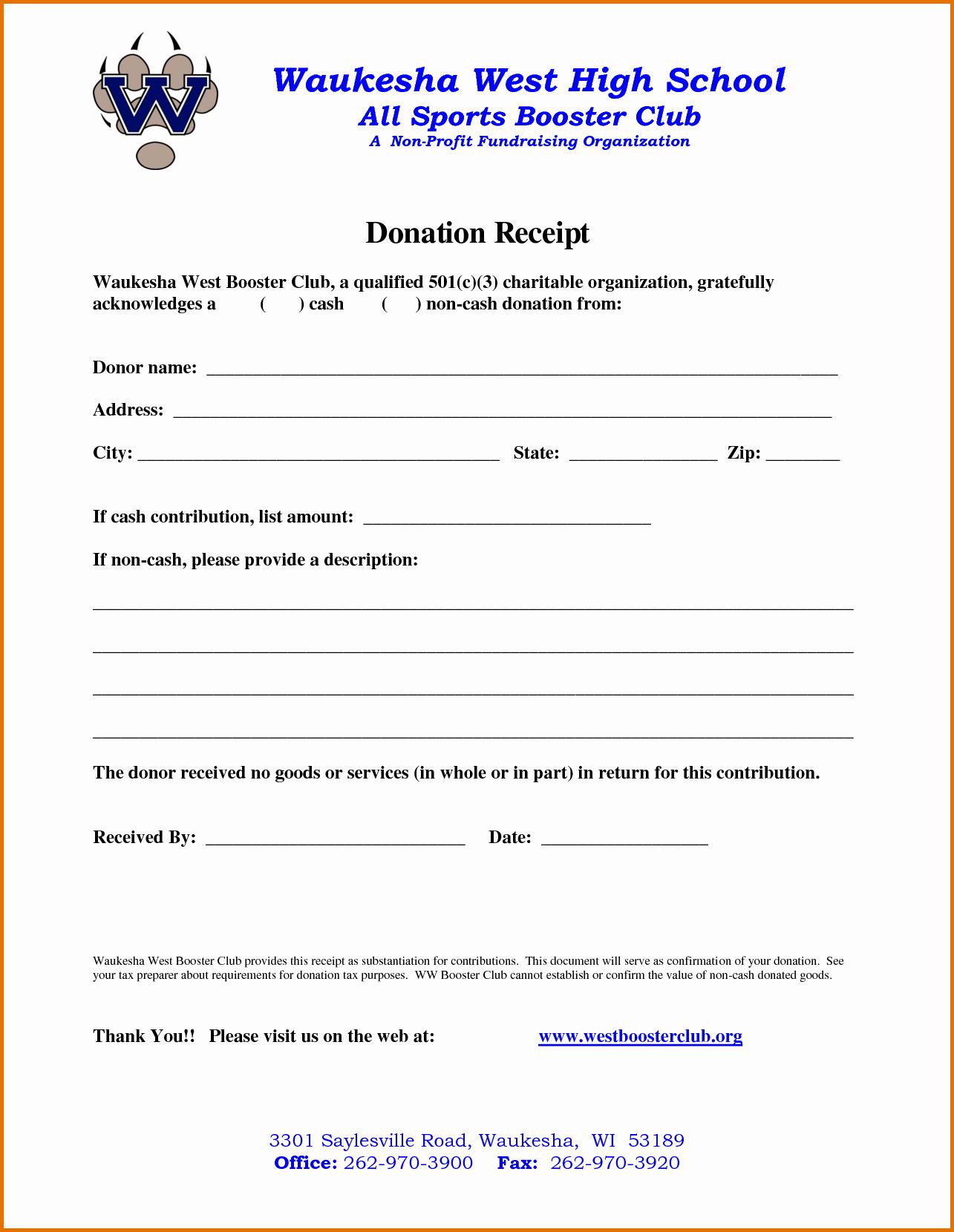 Non Profit Receipt Template Elegant Non Profit Donation Receipt Templatereference Letters