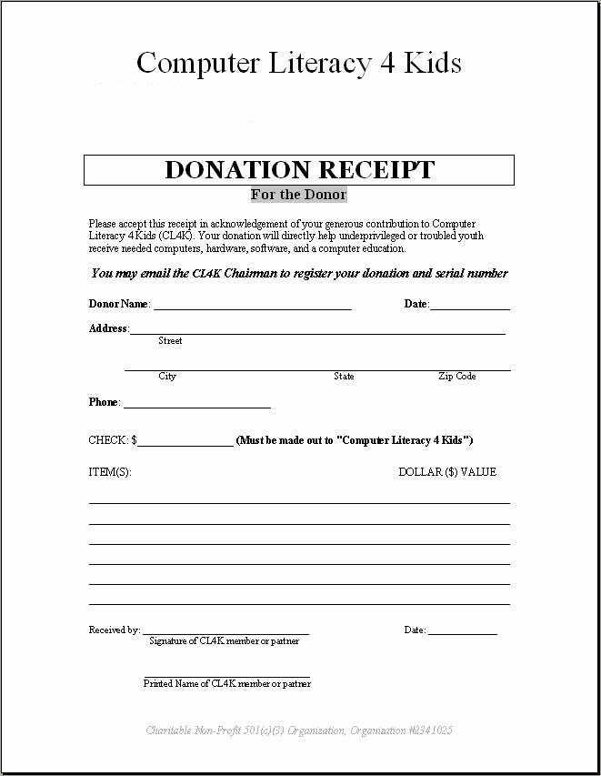 Non Profit Receipt Template Elegant Non Profit organization Donation Receipt Template