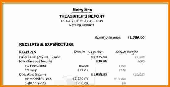 Non Profit Treasurer Report Template Fresh 8 Treasurer S Report Template