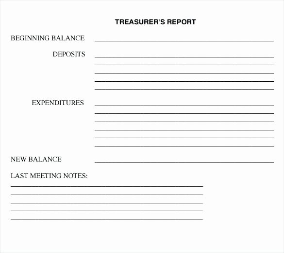 Non Profit Treasurer Report Template Inspirational Non Profit Treasurer Report Template Business Treasurers S