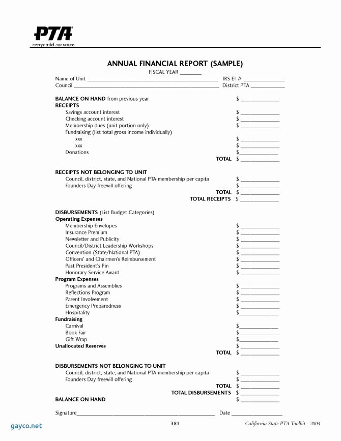 Non Profit Treasurer Report Template Inspirational Treasurers Report Template Non Profit Excel Beautiful