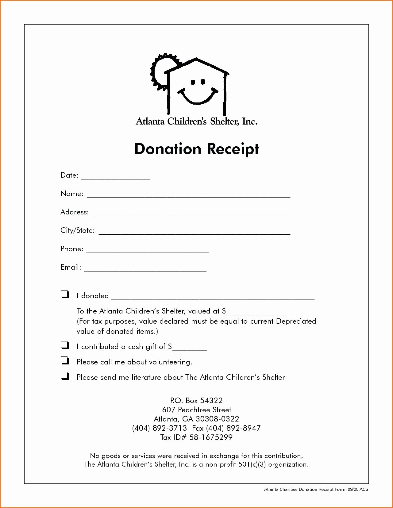 Nonprofit Donation Receipt Template Awesome Template Receipt Letter Template