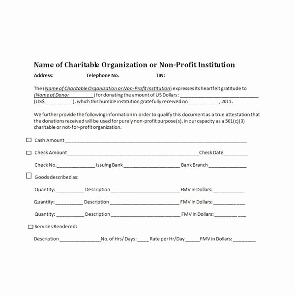 Nonprofit Donation Receipt Template Beautiful Charitable Donation Receipts Requirements as Supporting
