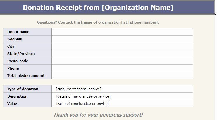 Nonprofit Donation Receipt Template Beautiful Receipt Template Category Page 2 Efoza