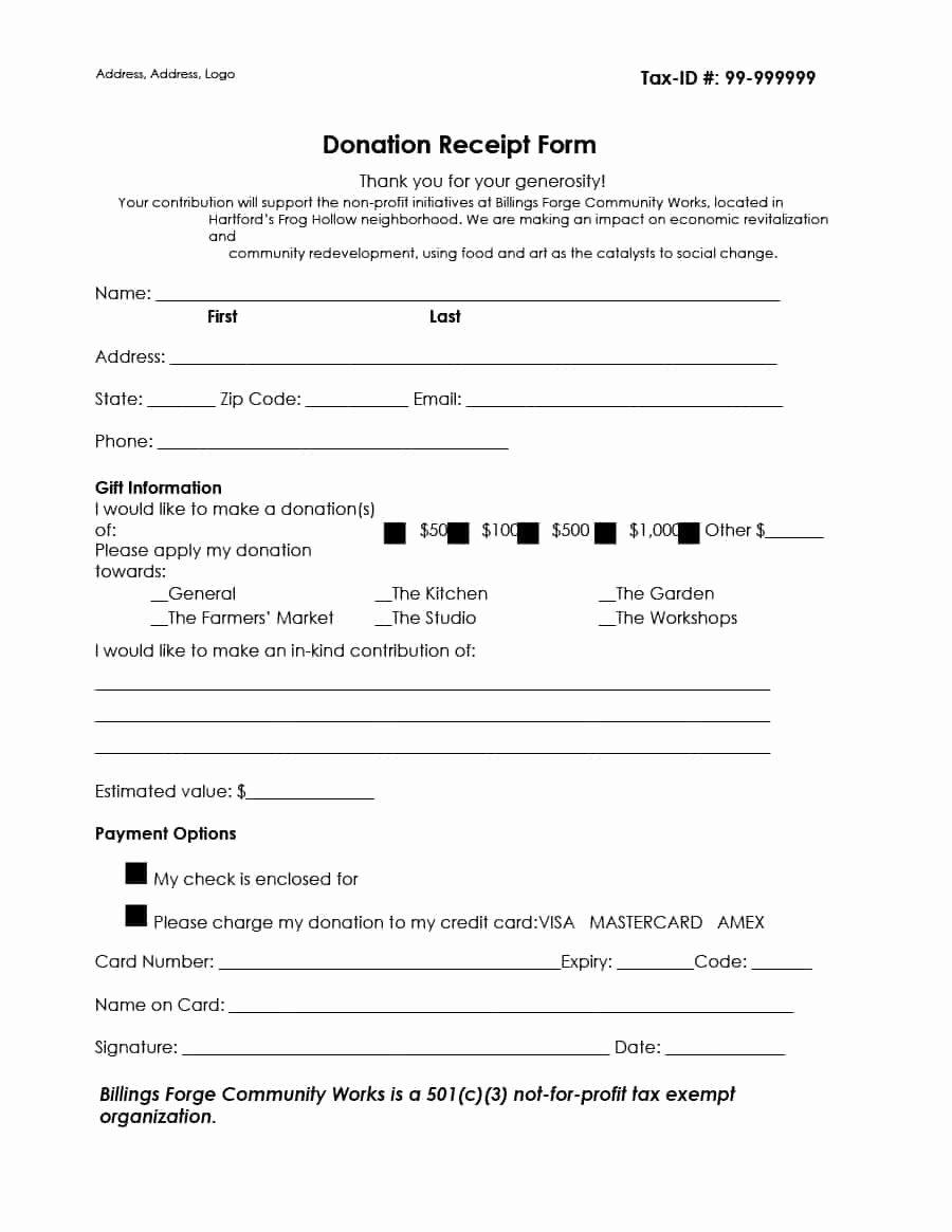 Nonprofit Donation Receipt Template Elegant 40 Donation Receipt Templates & Letters [goodwill Non Profit]