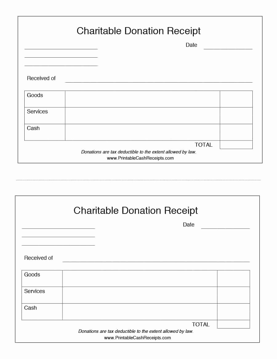 Nonprofit Donation Receipt Template Fresh 40 Donation Receipt Templates & Letters [goodwill Non