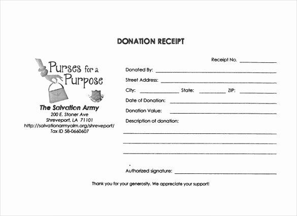 Nonprofit Donation Receipt Template Inspirational 23 Donation Receipt Templates – Pdf Word Excel Pages