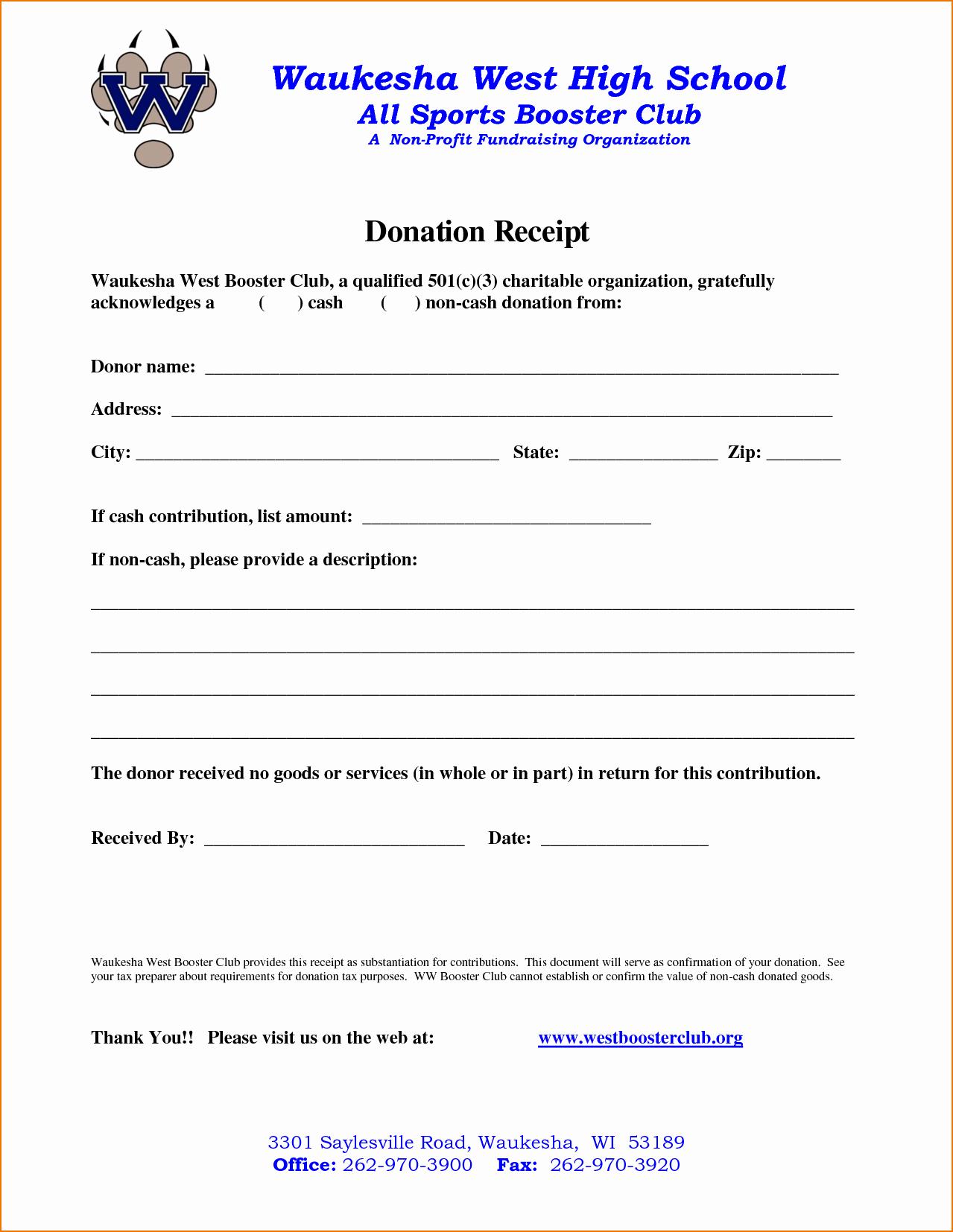 Nonprofit Donation Receipt Template Inspirational 4 Non Profit Donation Receipt Template